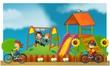 The funfair - playground - illustration for the children