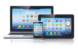 Fototapety Laptop, tablet PC and smartphone