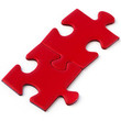 Jig Saw Puzzle - Two Red Pieces