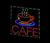 cafe light emitting diode sign