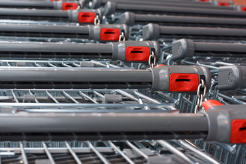 Supermarket shopping carts
