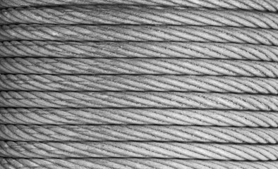 Steel rope background