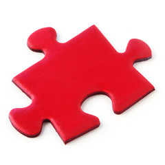 Jig Saw Puzzle - One Red Piece