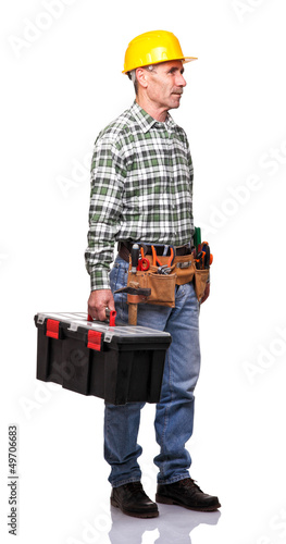 man with toolsbox