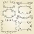 vector lacy  vintage floral  design elements