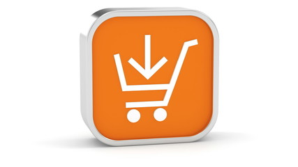 Orange Add to Cart Sign