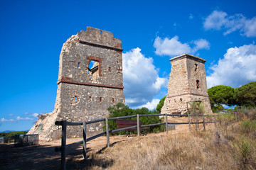Ruins of the Les Torretes on the west of Calella