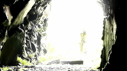 special soldier in cave