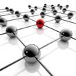 Network und Business - 3D Grafik / 3d Illustration