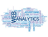 WEB ANALYTICS Tag Cloud (internet data advertising marketing)