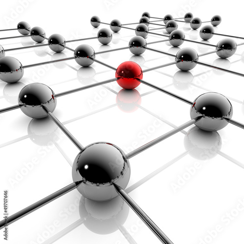 Network und Business - 3D Grafik / 3d Illustration