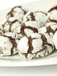 Chocolate cookies, closeup, isolated