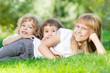 Kids in spring park