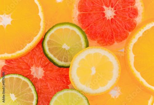 Foto op Plexiglas Plakjes fruit Orangenscheiben