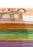 Fototapete Euro - Euromünzen - Andere Objekte