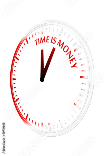 Time is money clock vector illustration