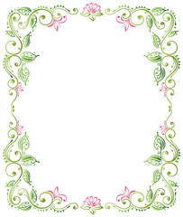 Lotus, Lotusblüte, Wellness, Rahmen