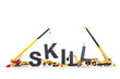 Developing skills: Machines building skill-word.
