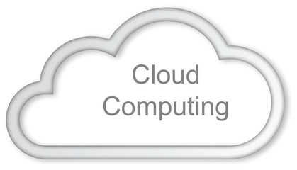 Cloud computing concept on white background .
