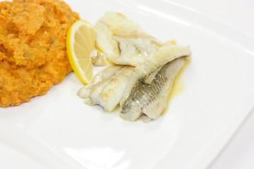 poisson et purée