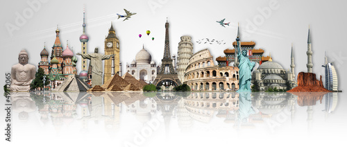 Travel the world monuments concept - 49712065