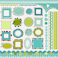 blue frames and borders pack