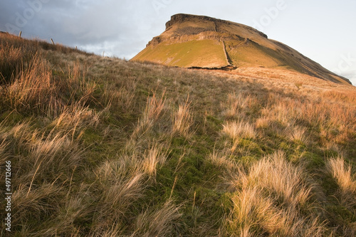 Pen-y-Ghent in low sunlight in Yorkshire Dales National Park