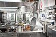 Utensils Hanging In Commercial Kitchen