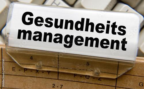 canvas print picture Gesundheitsmanagement