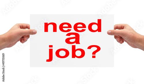 need a job concept