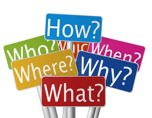 Questioning - What, Where, Why, Who, When, How