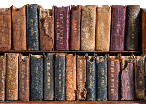 Row of Antique Books