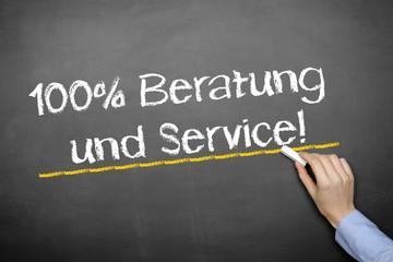 100% Beratung u. Service