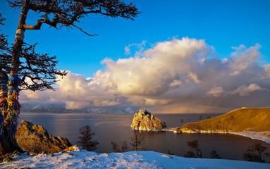 Baikal. The Olkhon Island in December