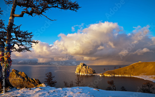 Baikal. The Olkhon Island in December