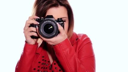 girl taking a photo