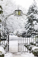 Entrance Gate to Snowy Park