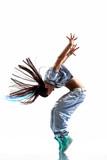 Fototapeta skok - na białym tle - Zdrowie / Gimnastyka / Taniec