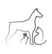 Dog, cat ,and rabbit logo vector