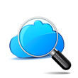 Cloud & magnifier
