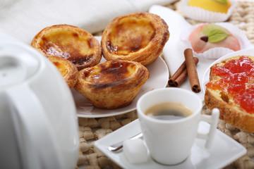 """traditional portuguese cakes """"pasteis de nata"""""""