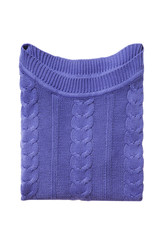 Lilac folded sweater isolated