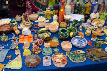 clay crockery kid craft wares outdoor fair