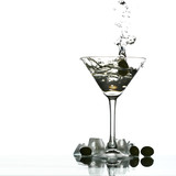 martini glass splash