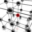 Social Media und Netzwerk - 3D Grafik / 3d Illustration