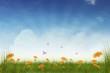 Frühlingswiese Hintergrund