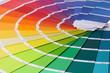 Leinwandbild Motiv farbkarte, farbpalette