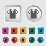 T-shirt single icon. Vector illustration.