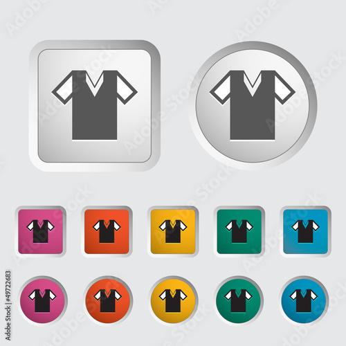 T-shirt single icon. Vector illustration.