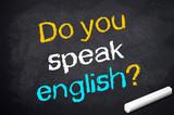 Kreidetafel mit Do you speak english?